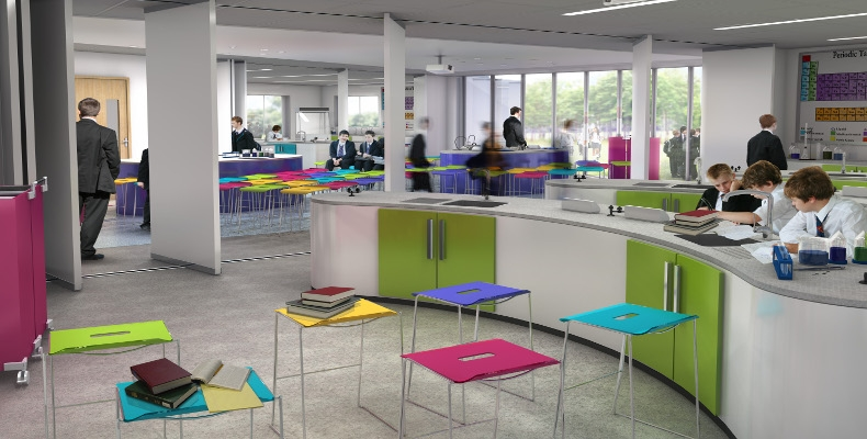 Acoustic Flooring at Brompton Academy by JCW