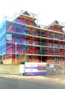 JCW Acoustic Flooring currently working on a 16 upper floor apartment in Welshmill Lane, Frome