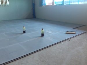 Cellecta Screedboard being installed into School